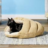 Ethical Pet Sleep Zone Cuddle Cave Cat & Dog Bed, 22-in, Tan