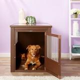 New Age Pet ecoFLEX Single Door Furniture Style Dog Crate & End Table, Russet, X-Large