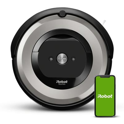iRobot® Roomba® e5 5134 Wi-Fi Connected Robot Vacuum lets you schedule cleanup or initiate it on demand at the push of a button. It\'s a hands-free way to make sure your carpets and hard floors are clean. In fact, it\'s so convenient, it runs for up to...
