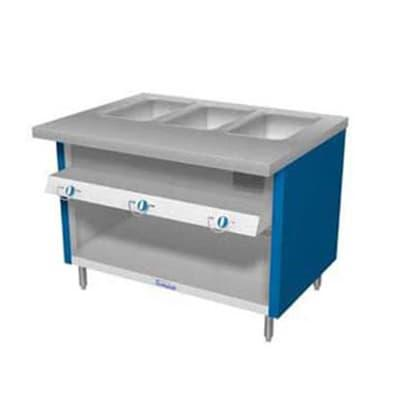 Duke TGHF-46SS 46 Hot Food Unit w/ 3 Dry Heat Wells & Water Pans, All Stainless, LP on Sale