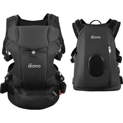 Diono Carus Complete 4-in-1 Baby Carrier + Detachable Backpack – Dark Grey