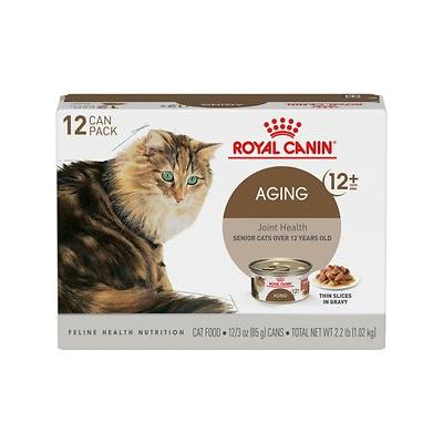Royal Canin Aging 12+ Thin Slices in Gravy Canned Cat Food, 3-oz, case of 12
