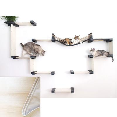 CatastrophiCreations The Cat Mod Bridge Temple Complex for Cats in Natural, 90 IN W X 60 IN H, 36 LB, Tan