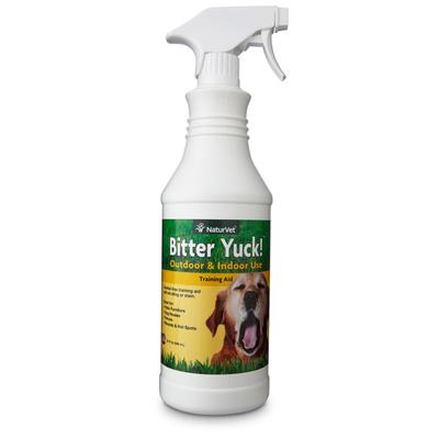 There is no job too big for Bitter YUCK! spray. The convenient trigger sprayer makes applying quick and easy. Our special water based formula will not sting or stain. Can be used directly on your pet\'s hot spots, fur, bandages, and more.