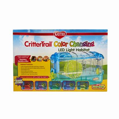 Kaytee CritterTrail LED Color Changing Habitat, One Size Fits All, Multi-Color