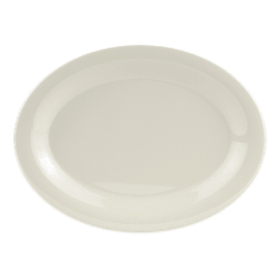 GET OP-120-DI Oval Serving Platter, 12 x 9, Melamine, Ivory on Sale