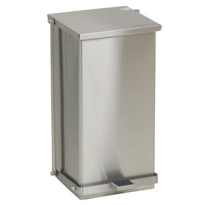 Detecto C32 8 gal Rectangle Metal Step Trash Can, 21L x 11.75W x 13H, Stainless on Sale