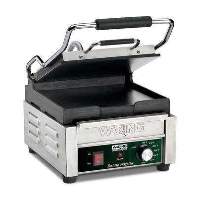 Waring WFG150 Commercial Panini Press w/ Cast Iron Smooth Plates, 120v on Sale
