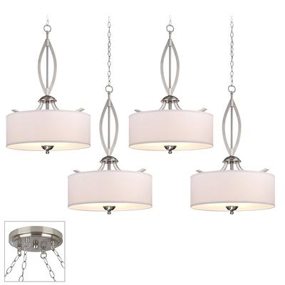 Possini Euro Design Chrome Pendant Chandelier 17