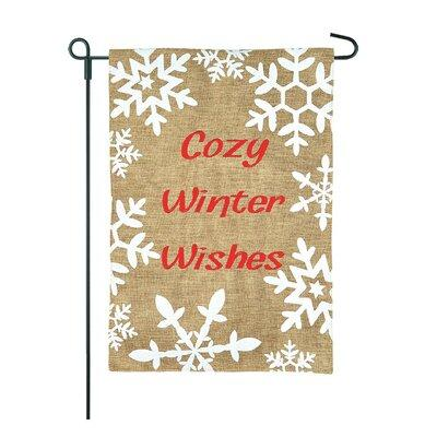 Jec Home Goodsjec Home Goods Cozy Winter Wishes Snowflakes 2 Sided Burlap 18 X 13 In Garden Flag Gf40026 0 Dailymail