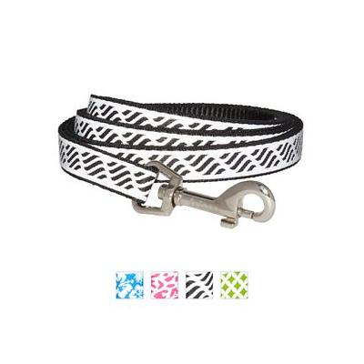 Frisco Patterned Reflective Dog Leash, Wavy Lines, 6-ft, 5/8-in