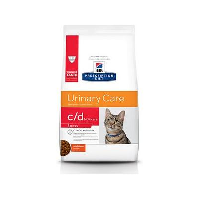 Hill's Prescription Diet c/d Multicare Urinary Care Stress with Chicken Dry Cat Food, 4-lb bag