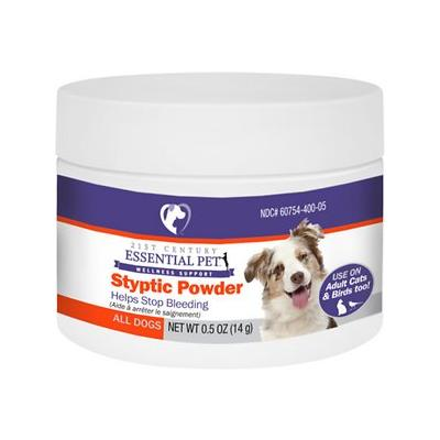 21st Century Essential Pet Styptic Powder for Dogs, Cats & Birds, 0.5-oz jar