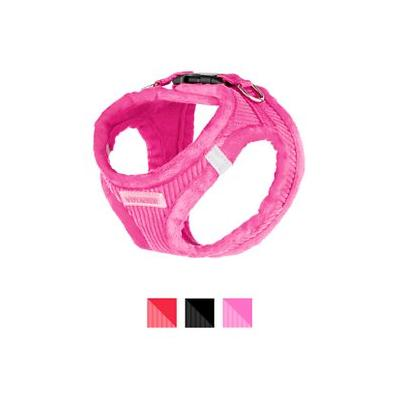 Best Pet Supplies Voyager Corduroy Dog Harness, Fuchsia, X-Small