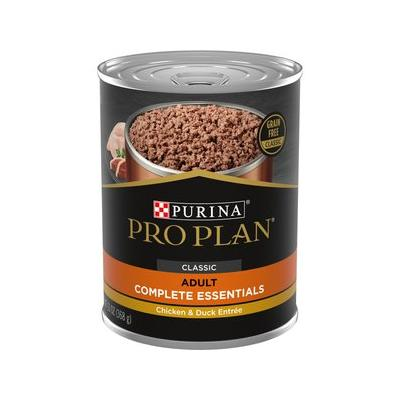 Purina Pro Plan Savor Classic Chicken & Duck Entree Grain-Free Canned Dog Food, 13-oz, case of 12