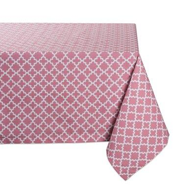 Winston Porter Trung Lattice Tablecloth Cotton In Blue Gray Pink Size 84 L X 60 W Wayfair X111640246 Ibt Shop