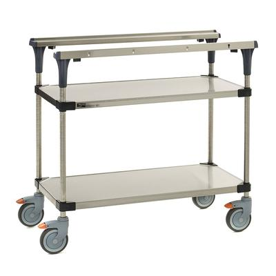 Metro MS1836-FSFS 2 Level Mobile PrepMate MultiStation w/ Solid Shelving - 38L x 19.4W x 39.13H on Sale