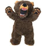 Mighty Angry Animals Bear Squeaky Plush Dog Toy, Large