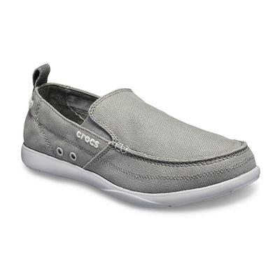 Crocs - Crocs Slate Grey/Light Grey Men'S Walu Slip-On Shoes