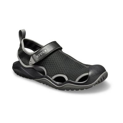 Crocs Black Men's Swiftwater™ Mesh Deck Sandal Shoes