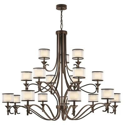 Circolo 9 Light Chandelier Brushed Nickel | Kichler Lighting