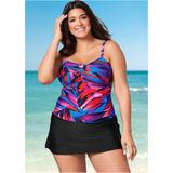 Plus Size Swim Dress One-Piece Swimsuits & Monokinis - Purple/blue/pink/black