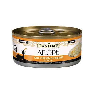 CANIDAE Adore Chicken & Carrots in Broth Canned Cat Food, 5.5-oz, case of 24