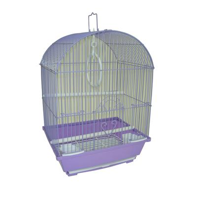 """YML Purple Round Top Style Parakeet Cage, 11"""" L X 9"""" W X 16"""" H, 11 IN"""