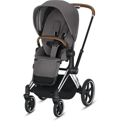 Cybex 2019 Priam Complete Stroller - Chrome/Brown/Manhattan Grey