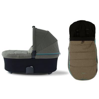 Micralite SmartFold Bassinet & Footmuff Accessory Bundle - Evergreen