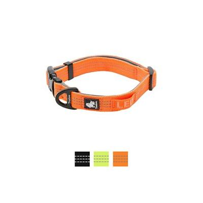 Chai\'s Choice Outdoor Adventure 3M Reflective Dog Collar, Orange, Large; Get your adventurous sidekick equipped for your next expaw-dition with Chai's Choice Outdoor Adventure 3M Reflective Dog Collar! This easy-to-use, snap-on collar is specially...