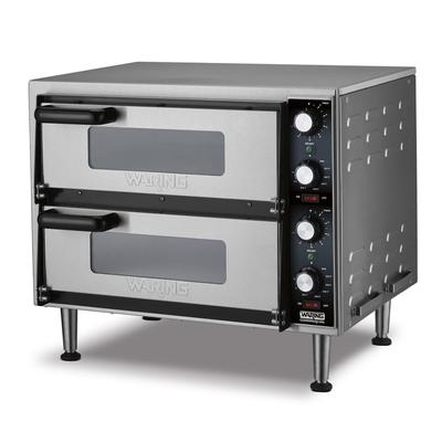 Waring WPO350 Countertop Pizza Oven - Double Deck, 240v/1ph on Sale