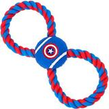 Buckle-Down Captain America Rope Tennis Ball Dog Toy
