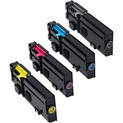 SAVE 5% - Dell C2665dnf Toner 4-Pack Color Bundle - 1 Black (67H2T), 1 Cyan (TW3NN), 1 Yellow (2K1VC), 1 Magenta (V4TG6)