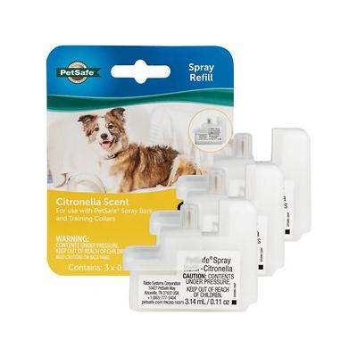 PetSafe Citronella Replacement Spray Cartridges for Anti-Bark & Training Dog Collar, 3 count