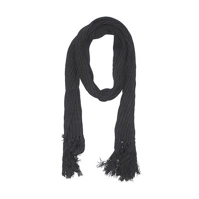 New York & Company Scarf: Black Solid Accessories
