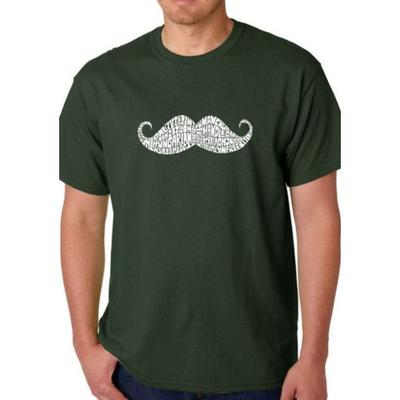 LA Pop Art Forest Word Art T Shirt - Ways to Style a Mustache