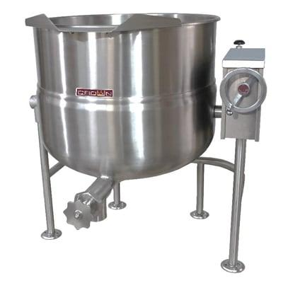 Crown Steam DLT-80 80 gal. Steam Kettle - Manual Tilt, 2/3 Jacket, Direct Steam on Sale