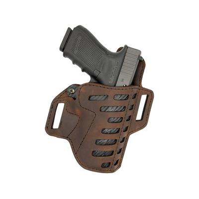 The Versacarry Compound OWB Holster is a true hybrid holster and is unique on the market due to the fact that it\\\'s constructed so that kydex is not in contact with the firearm. An infused layer of kydex is sewn in between the layers of water buffalo...